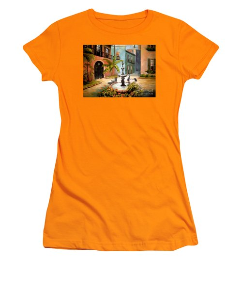 French Quarter Fountain Women's T-Shirt (Athletic Fit)