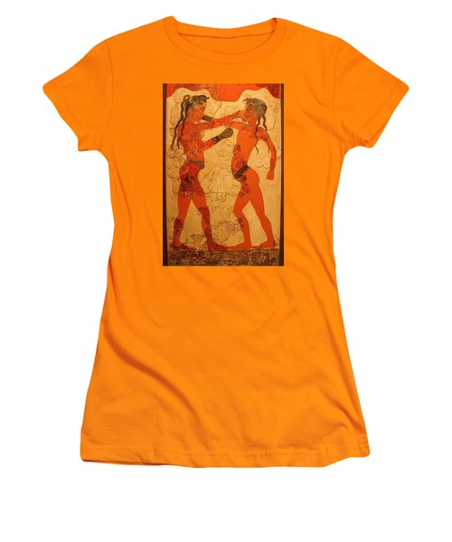 Fresco Of Boxing Children Women's T-Shirt (Athletic Fit)