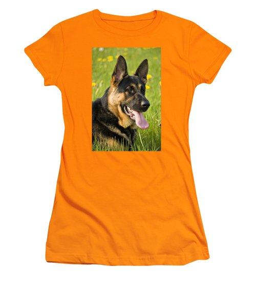 German Shepherd Women's T-Shirt (Athletic Fit)