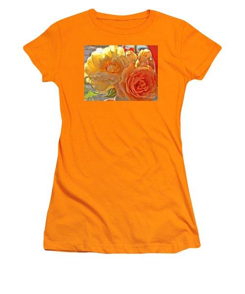 Women's T-Shirt (Junior Cut) featuring the photograph Golden Light by Debbie Portwood