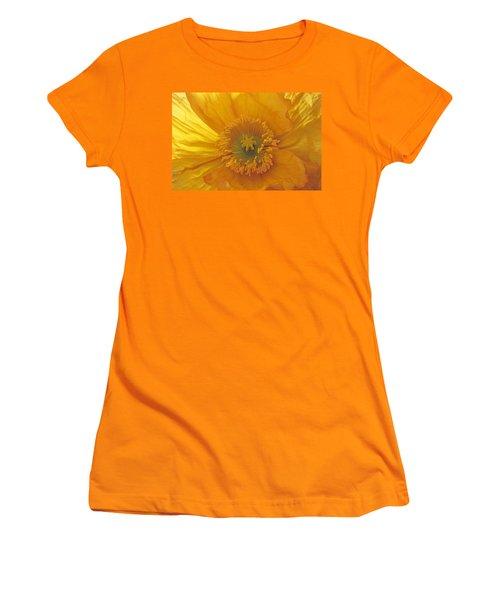 Women's T-Shirt (Junior Cut) featuring the photograph Iceland Poppy 4 by Susan Rovira
