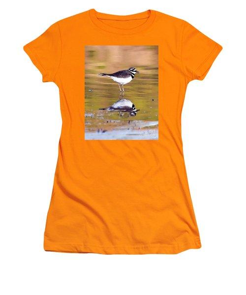 Killdeer Reflection Women's T-Shirt (Athletic Fit)