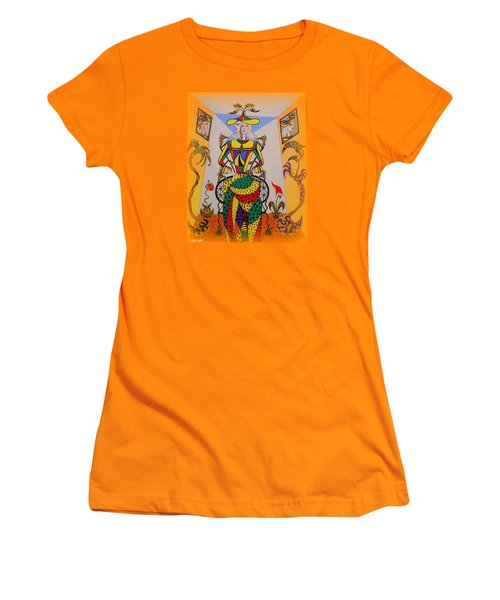 Women's T-Shirt (Junior Cut) featuring the painting  Eleonore Graduation  by Marie Schwarzer
