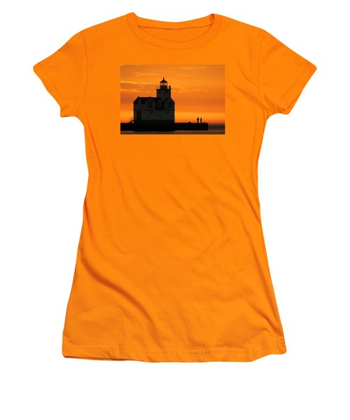 Morning Friends Women's T-Shirt (Junior Cut) by Bill Pevlor