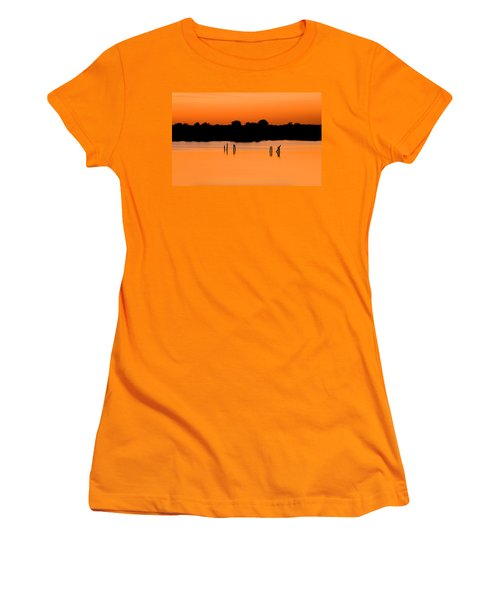 Orange Sunset Florida Women's T-Shirt (Junior Cut) by Rich Franco