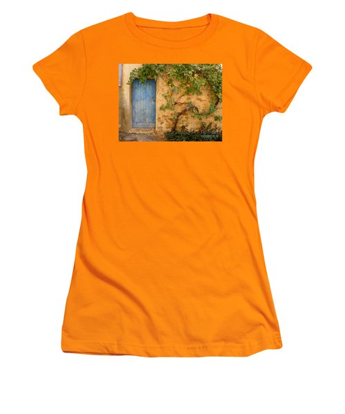 Women's T-Shirt (Junior Cut) featuring the photograph Provence Door 5 by Lainie Wrightson
