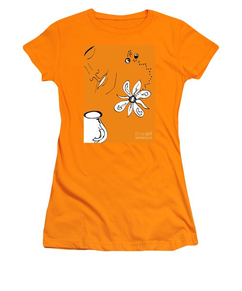 Serenity In Orange Women's T-Shirt (Athletic Fit)