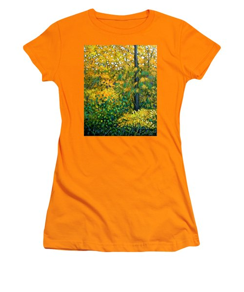 Southern Woods Women's T-Shirt (Junior Cut) by Jeanette Jarmon