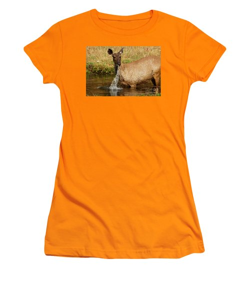 Women's T-Shirt (Junior Cut) featuring the photograph Startled by Fotosas Photography