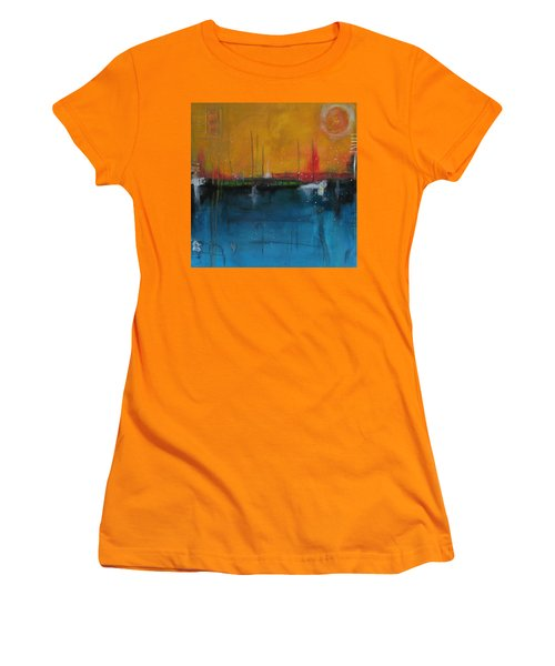 Sunset At The Lake  # 1 Women's T-Shirt (Junior Cut) by Nicole Nadeau