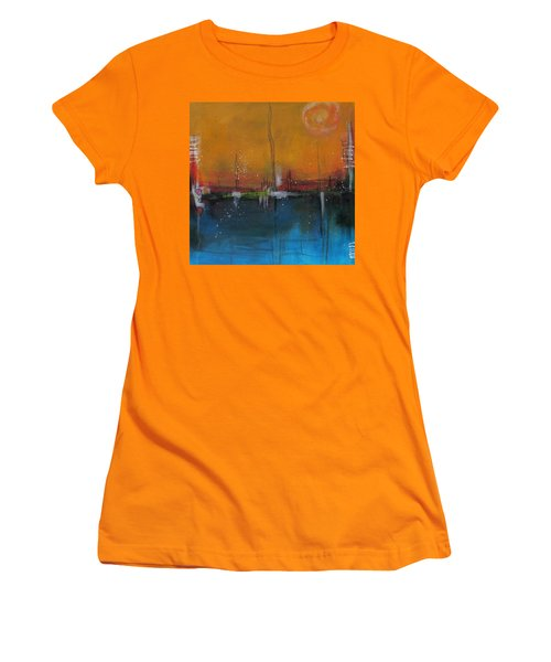 Sunset At The Lake # 2 Women's T-Shirt (Junior Cut) by Nicole Nadeau