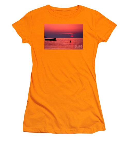 Women's T-Shirt (Junior Cut) featuring the photograph Sunset In Elba Island by Luciano Mortula