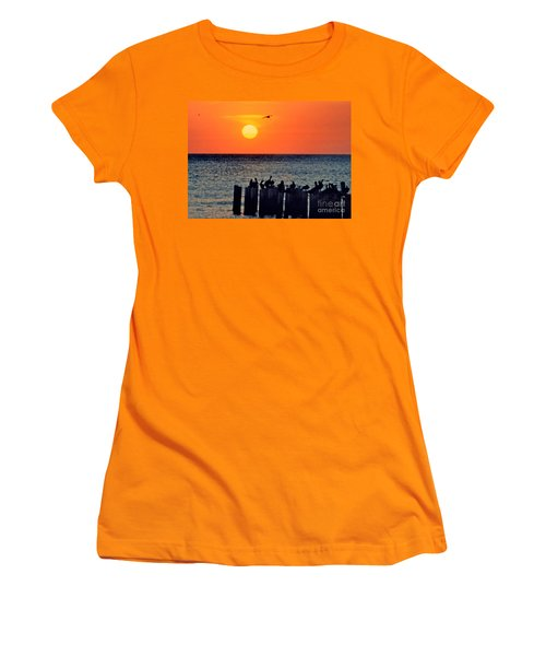 Women's T-Shirt (Junior Cut) featuring the photograph Sunset In Florida by Lydia Holly