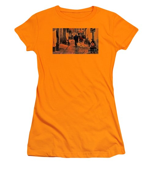 Women's T-Shirt (Junior Cut) featuring the photograph The Neighborhood by Lydia Holly