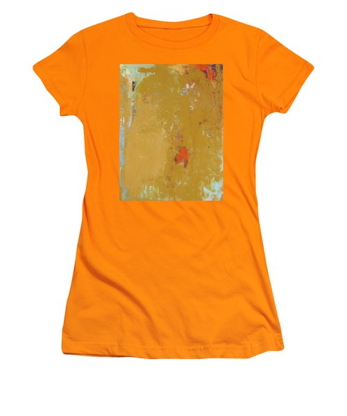 Untitled Abstract - Ochre Cinnabar Women's T-Shirt (Athletic Fit)