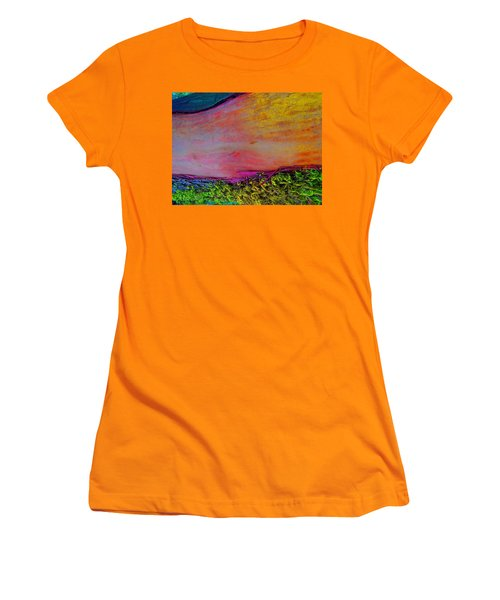 Women's T-Shirt (Junior Cut) featuring the digital art Walk Into The Future by Richard Laeton