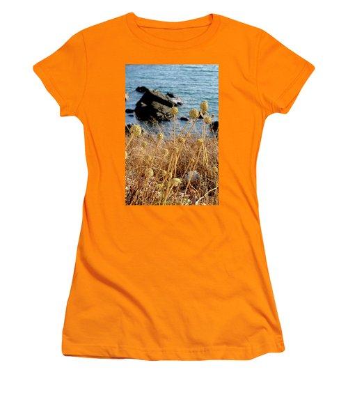 Women's T-Shirt (Junior Cut) featuring the photograph Watching The Sea 2 by Pedro Cardona