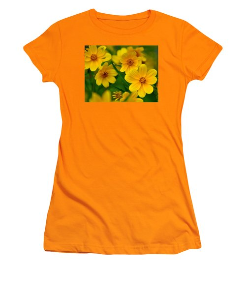 Women's T-Shirt (Junior Cut) featuring the photograph Yellow Flowers by Marty Koch