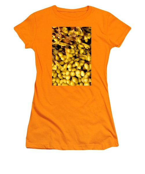 Yellow Kelp Pods Women's T-Shirt (Junior Cut) by Brent L Ander