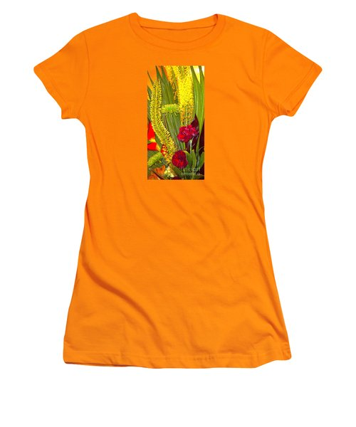 Artistic Floral Arrangement Women's T-Shirt (Junior Cut) by Merton Allen