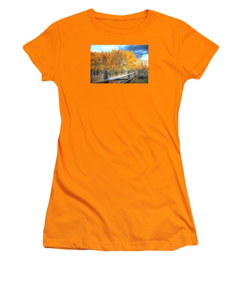 Autumn Fenced Women's T-Shirt (Athletic Fit)