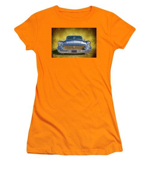 1955 Buick Women's T-Shirt (Junior Cut) by Keith Hawley