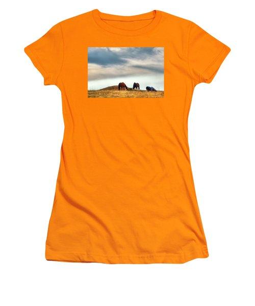 A Palouse Landscape Women's T-Shirt (Junior Cut) by David Patterson