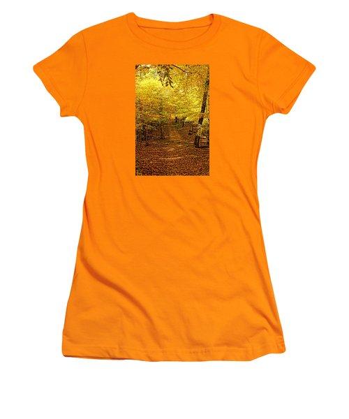A Walk In The Woods Women's T-Shirt (Junior Cut) by Steven Clipperton