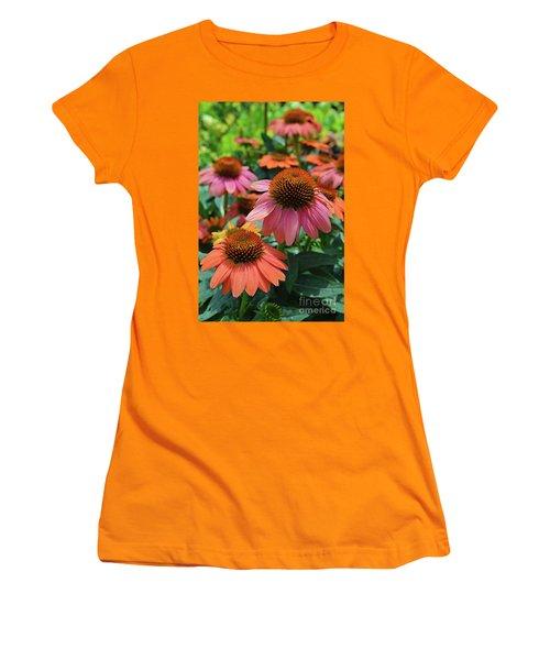 Cone Flower Women's T-Shirt (Junior Cut) by Eva Kaufman