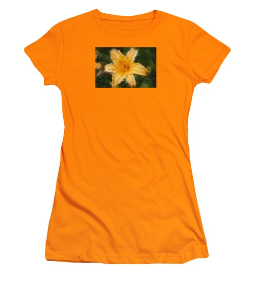 Daylily Hemerocallis Stella De Oro  Women's T-Shirt (Junior Cut) by Rich Franco