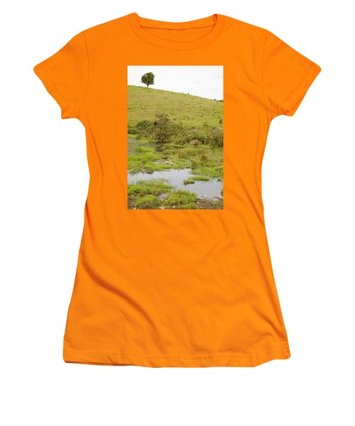 Women's T-Shirt (Junior Cut) featuring the photograph Fairy Tree In Ireland by Ian Middleton