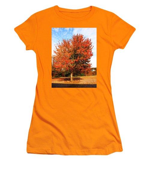 Fall Time Women's T-Shirt (Junior Cut) by Randy Sylvia