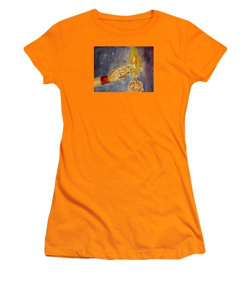 Happy Diwali Women's T-Shirt (Junior Cut) by Geeta Biswas