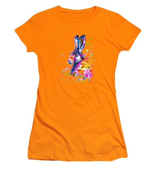 Hare In Grass Women's T-Shirt (Athletic Fit)