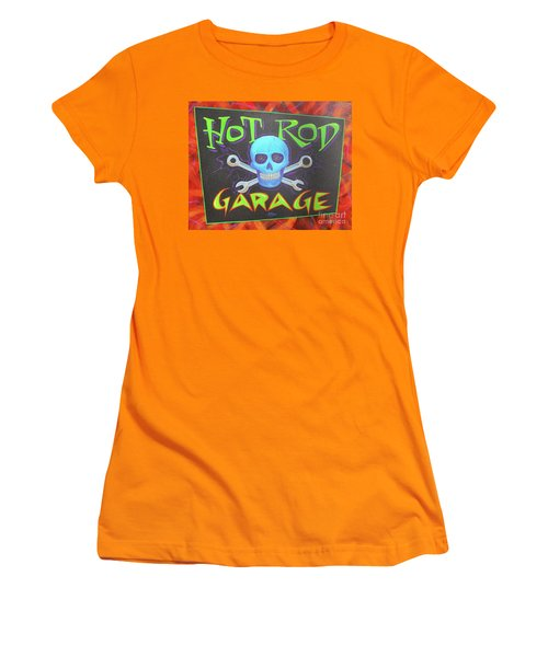 Hot Rod Garage Women's T-Shirt (Athletic Fit)