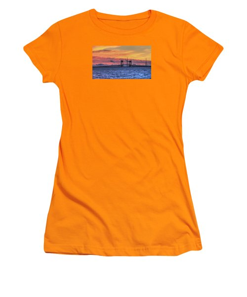 James River Bridge Women's T-Shirt (Junior Cut) by Jerry Gammon