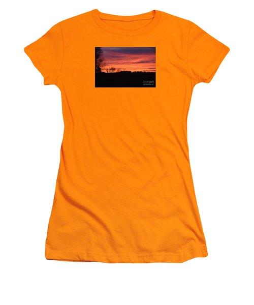 Women's T-Shirt (Junior Cut) featuring the photograph Kansas Sunset by Mark McReynolds