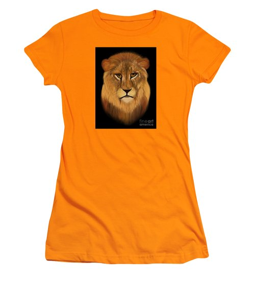 Lion - The King Of The Jungle Women's T-Shirt (Athletic Fit)
