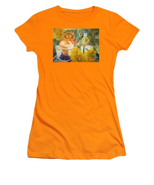 Lunch In Provence Women's T-Shirt (Junior Cut) by Lisa Boyd