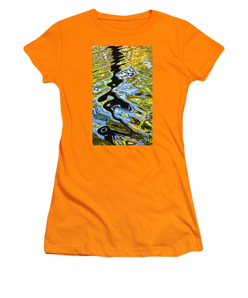Mill Pond Reflection Women's T-Shirt (Junior Cut) by Tom Cameron