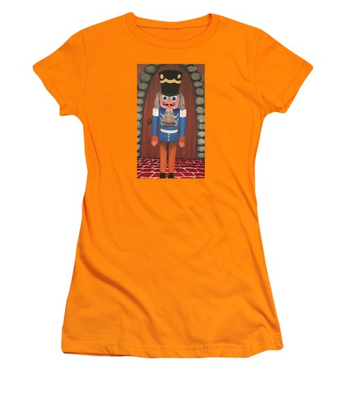Women's T-Shirt (Junior Cut) featuring the painting Nutcracker Sweet by Thomas Blood