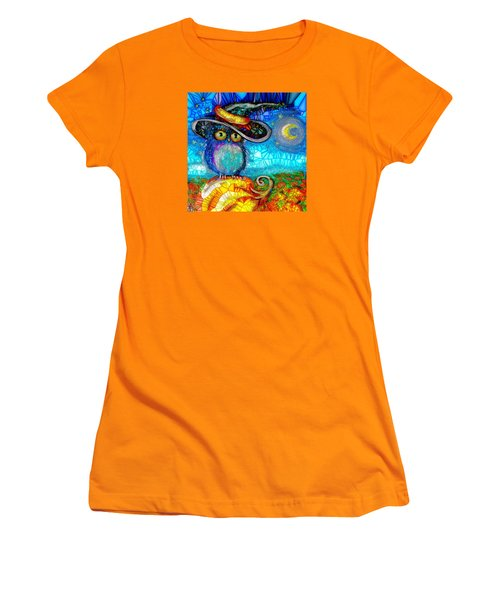 Owl Scare You Women's T-Shirt (Junior Cut) by Agata Lindquist