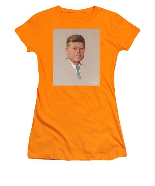 President John F. Kennedy Women's T-Shirt (Athletic Fit)