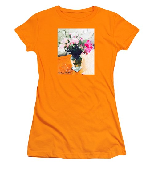 Roses In The Living Room Women's T-Shirt (Junior Cut) by Melissa Abbott