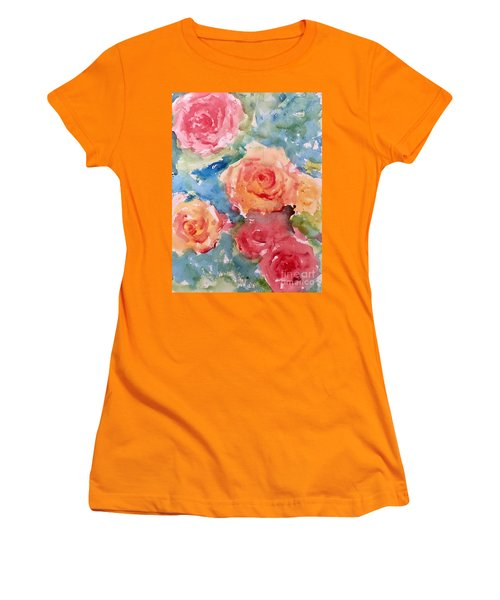 Roses Women's T-Shirt (Junior Cut) by Trilby Cole
