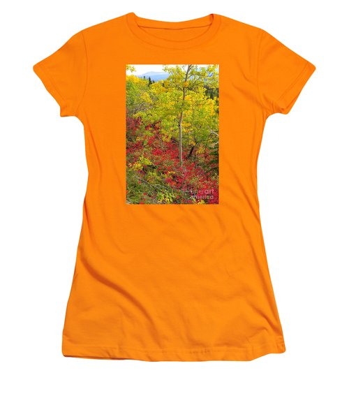 Splash Of Autumn Women's T-Shirt (Athletic Fit)