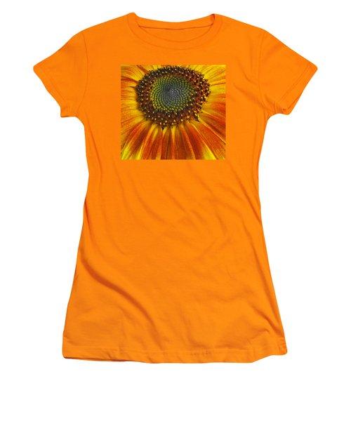 Sunflower Center Women's T-Shirt (Athletic Fit)