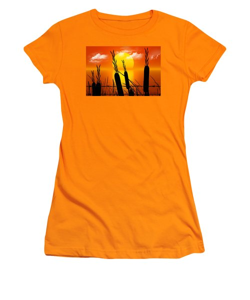 Sunset Lake Women's T-Shirt (Athletic Fit)