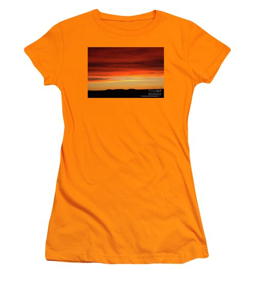 The Buttes At Sundown Women's T-Shirt (Athletic Fit)
