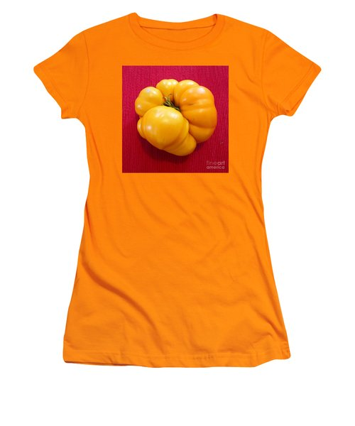 Tomatoe Women's T-Shirt (Junior Cut) by Suzanne Lorenz